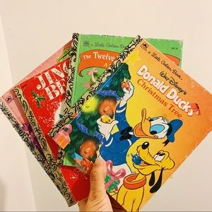 Christmas Theme Golden Books—Disney, Sesame St etc